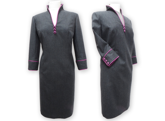 Handmade designer grey dress
