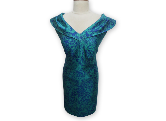 Handmade designer blue dress