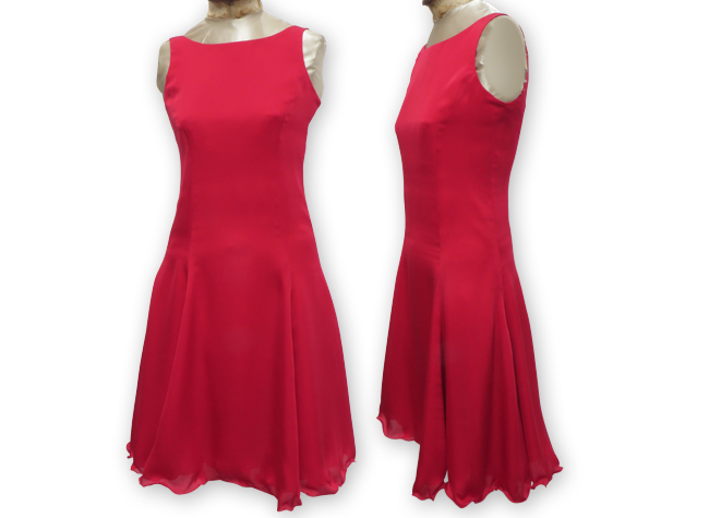 Handmade designer red dress