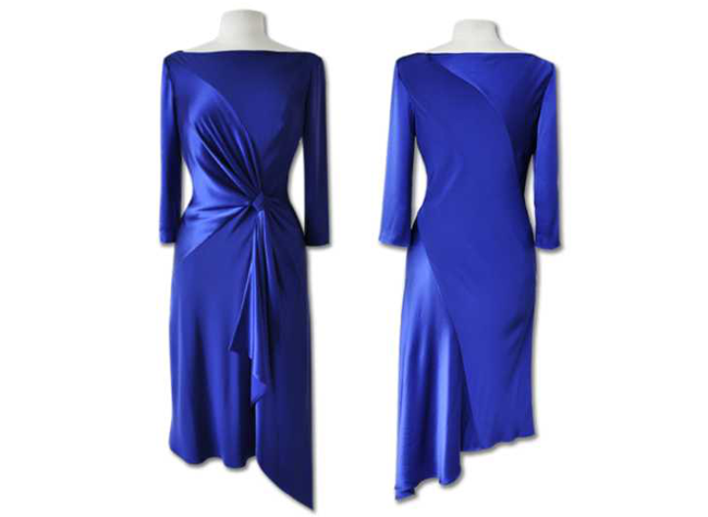 Handmade designer royal blue evening dress